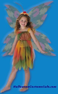 THE WOODLAND FAIRY CHILD AMBER COSTUME