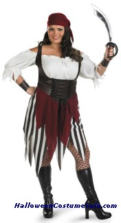 DECK HAND DARLING PIRATE PLUS SIZE COSTUME