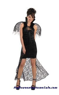 LACED CAPE WITH WINGS