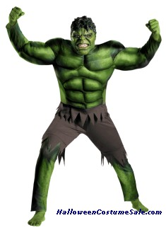 HULK AVENGERS CLASSIC MUSCLE PLUS SIZE ADULT COSTUME