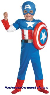 CAPTAIN AMERICA MUSCLE TODDLER/CHILD COSTUME
