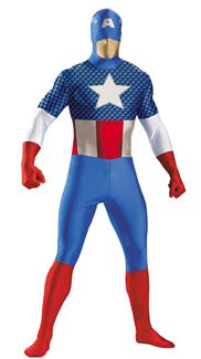 CAPTAIN AMERICA BODYSUIT TEEN/ADULT COSTUME