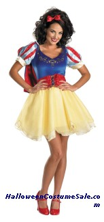 SNOW WHITE SASSY ADULT COSTUME