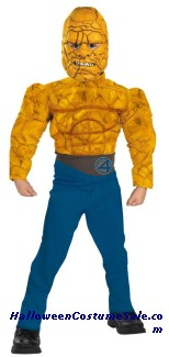 THE THING DELUXE CHILD MUSCLE COSTUME