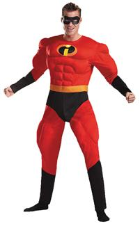 MR. INCREDIBLE ADULT DISNEY DELUXE MUSCLE COSTUME
