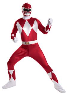 RED RANGER SUPER DELUXE PLUS SIZE ADULT COSTUME