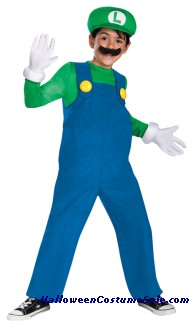 MARIO LUIGI DELUXE BOYS CHILD COSTUME