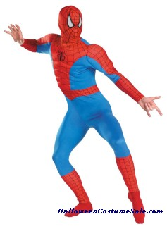 SPIDERMAN ADULT MUSCLE CHEST COSTUME
