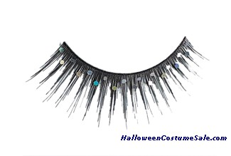 EYELASHES BLACK GLITTER