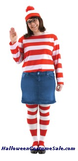 WHERES WALDO WENDA PLUS SIZE COSTUME