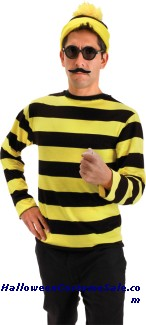 WHERES WALDO ODLAW ADULT COSTUME