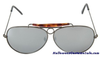 GUNMETAL MIRROR AVIATOR GLASSES