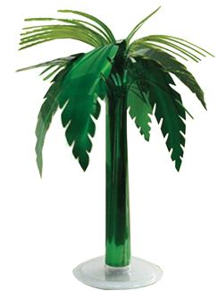 METALLIC PALM TREE TABLE DECOR