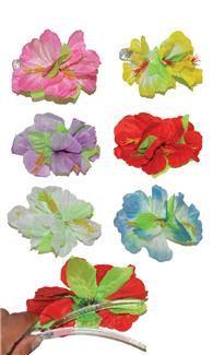 HIBISCUS ASSORT LARGE HAIRCLIP