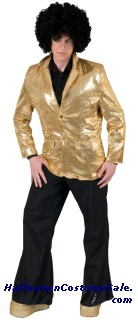 DISCO TUX GOLD JACKET ADULT COSTUME