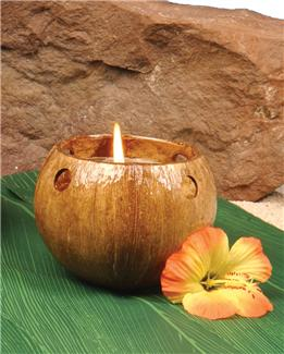 COCONUT TEALIGHT CANDLE HOLDER
