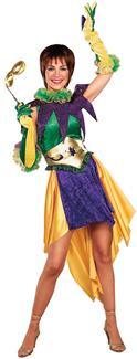MARDI GRAS MISS ADULT COSTUME