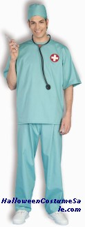 SURGICAL SCRUBS ADULT COSTUME