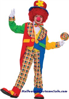 CLOWN ON THE TOWN CHILD COSTUME