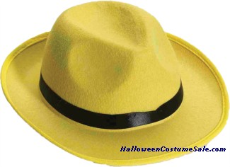 FEDORA ADULT YELLOW HAT