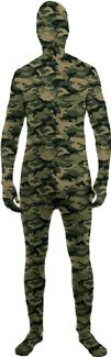 SKIN SUIT CAMO TEEN COSTUME