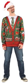 UGLY CHRISTMAS CARDIGAN ADULT COSTUME