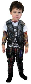 TATTOO LONG SLEEVE YOUTH CHILD COSTUME