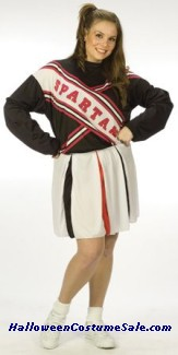 CHEERLEADER SPARTAN GIRL ADULT COSTUME - PLUS SIZE