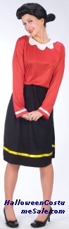 OLIVE OYL ADULT COSTUME -