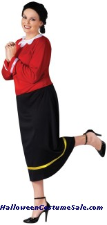 OLIVE OYL ADULT COSTUME - PLUS SIZE