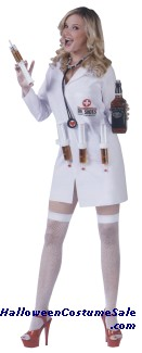 DR. SHOTS ADULT COSTUME - PLUS SIZE