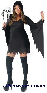GHOST FACE FEMALE COSTUME - PLUS SIZE
