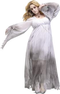 GOTHIC GHOST ADULT PLUS SIZE COSTUME