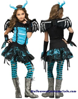 GOTH DRAGON FAIRY CHILD COSTUME