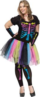 FUNKY PUNK BONES ADULT COSTUME