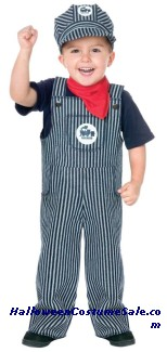 TRAIN ENGINEER TODDLER COSTUME