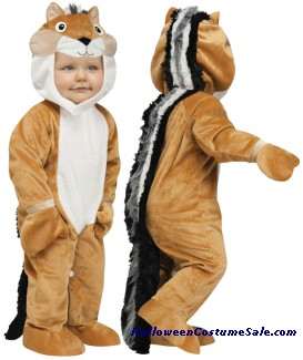 CHIPPER CHIPMUNK TODDLER COSTUME
