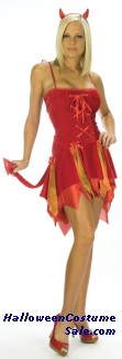 SEXY FLIRTY DEVIL ADULT COSTUME