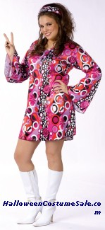 FEELIN GROOVY ADULT COSTUME - PLUS SIZE