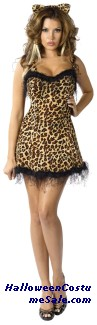 JUNGLE KITTY ADULT COSTUME