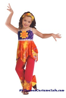 Hippie Tie Dye Child Costume