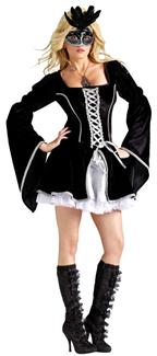 MIDNIGHT MASQUERADE ADULT COSTUME