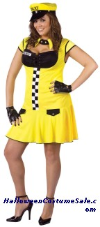 SEXY CABBIE ADULT COSTUME - PLUS SIZE