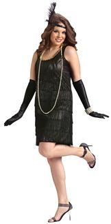 FLAPPER ADULT PLUS SIZE ADULT COSTUME