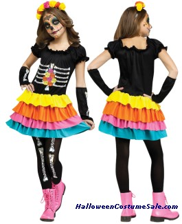 DAY OF THE DEAD CHILD COSTUME