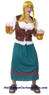Beer Girl Male Adult Costume - Plus Size