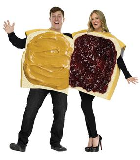 PEANUT BUTTER/JELLY COUPLE ADULT COSTUME
