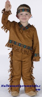 AMERICAN INDIAN BOY TODDLER COSTUME - VERY CUTE!