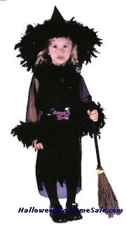 FEATHERY WITCH TODDLER COSTUME