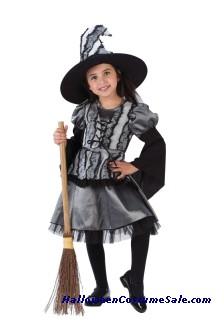 Toddler Goth Rose Witch Costume
